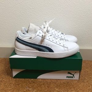New w/ box Puma Clyde Denim Leather women's shoes